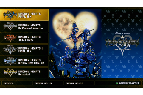 Kingdom Hearts HD 1.5+2.5 ReMIX title screen revealed ...