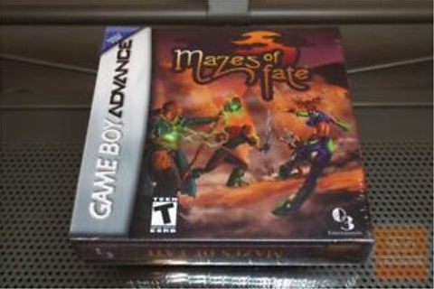 Mazes of Fate (Game Boy Advance, GBA 2006) FACTORY SEALED ...