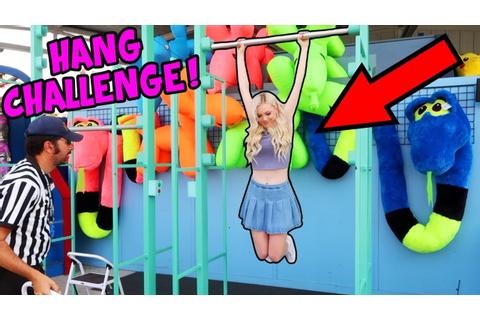 BAR HANG CARNIVAL GAME CHALLENGE!! HOW LONG CAN I HANG ...