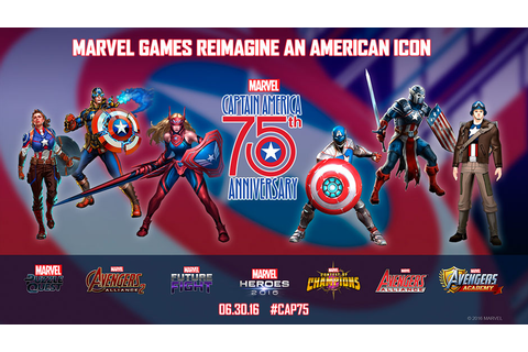 Marvel Games Reimagines CAPTAIN AMERICA To Celebrate His ...