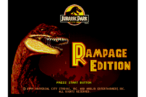 Super Adventures in Gaming: Jurassic Park: Rampage Edition ...