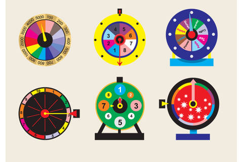 Spinning Wheel Game Vector - Download Free Vectors ...