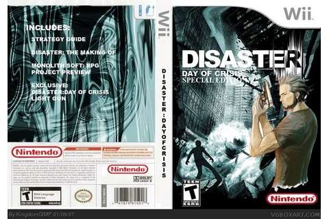 Disaster: Day of Crisis Wii Box Art Cover by [Deleted]