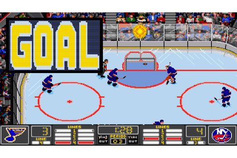 NHL HOCKEY (PC/DOS) 1993, EA Sports - YouTube
