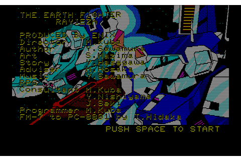 Chikyuu Senshi Rayieza (1985) by Enix NEC PC8801 game
