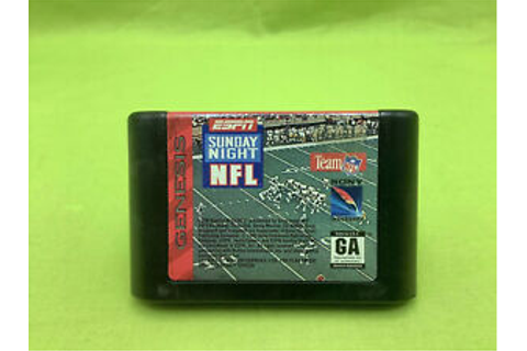 Sega Genesis ESPN Sunday Night NFL Game (1993) | eBay