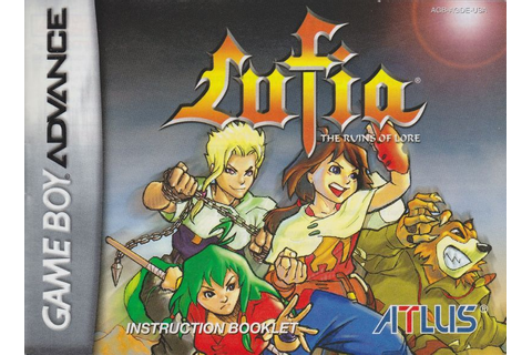 Lufia: The Ruins of Lore (2003) Game Boy Advance box cover ...