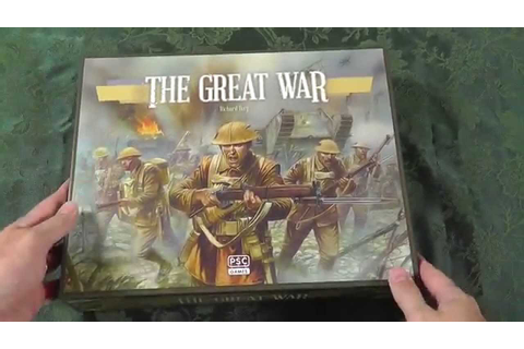 Un-Boxing PSC The Great War WW1 By Richard Borg Bonding ...