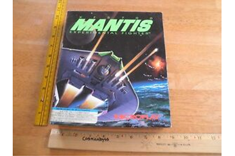 XF5700 Mantis Experimental Fighter 1992 game IBM 286 3.5 ...
