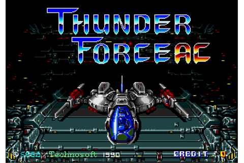 Thunder Force AC - Videogame by Sega/Technosoft