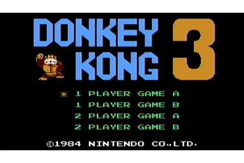 Donkey Kong 3 - NES Gameplay - YouTube