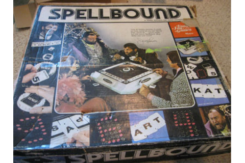 Vintage SPELLBOUND Board Game Jerry Lewis Hasbro 1975 ...