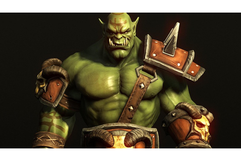 ... Wallpaper 5120x2880 Fantasy Orc character from World of Warcraft game