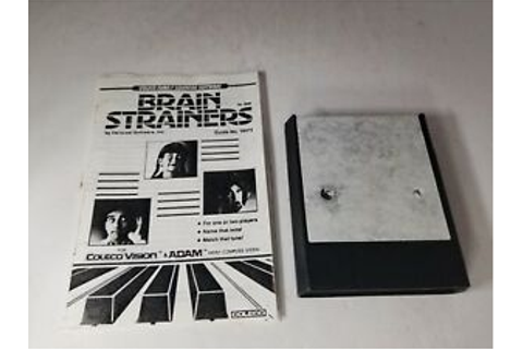 Brain Strainers Game for Colecovision Torn Label Cartridge ...