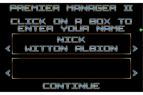 Premier Manager 2 | Old DOS Games packaged for latest OS