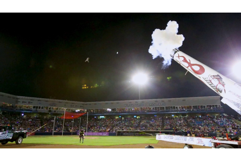 Human cannonball entertains the crowd at Whitecaps game ...