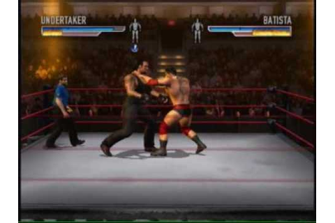 WWE WRESTLEMANIA 21 XBOX BATISTA VS TAKER - YouTube