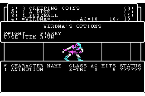 Download Wizardry 4: The Return of Werdna rpg for DOS ...