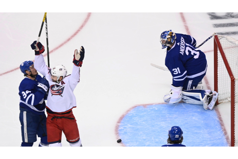 Blue Jackets advance with 3-0 Game 5 win over Maple Leafs ...