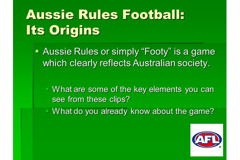Australia and Aussie Rules… - ppt download