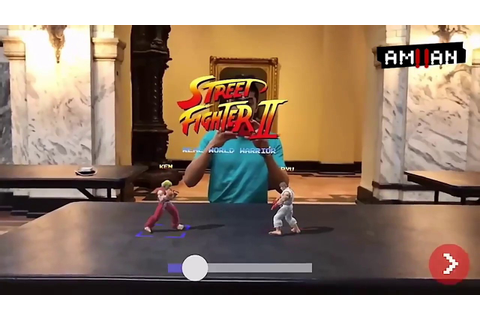 Street Fighter 2 AR / Lets you fight in the real world ...