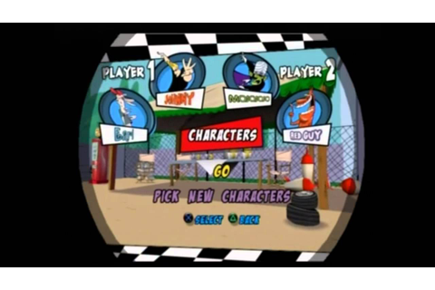 Cartoon Network Racing PS2 Multiplayer Eliminator Races ...