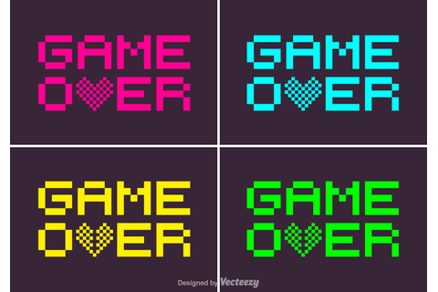 Pixel Game Over Vector - Download Free Vector Art, Stock ...