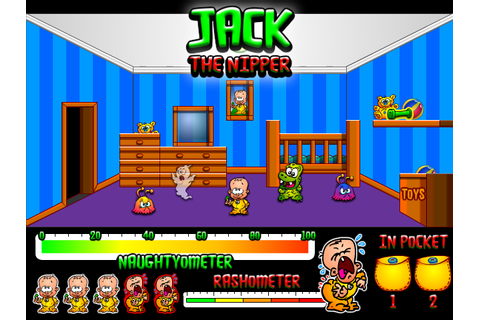 Jack the nipper cartoony mock-up screen I made for the Games Britannia ...