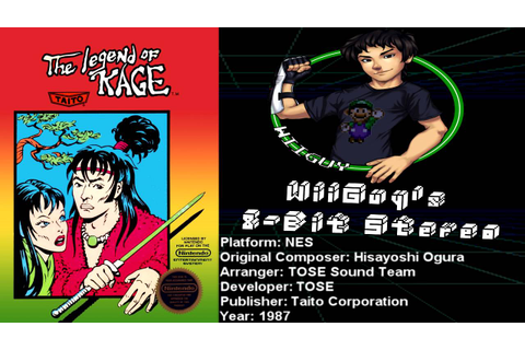 The Legend of Kage (NES) Soundtrack - 8BitStereo - YouTube