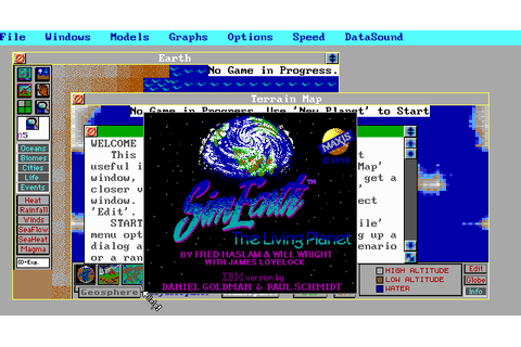 SimEarth | Old DOS Games | Download for Free or play on ...