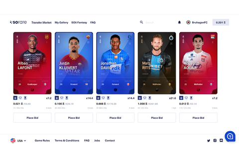 How to start collecting blockchain player cards on Sorare ...