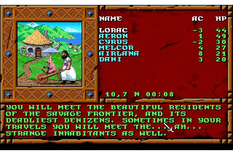 Download Treasures of the Savage Frontier rpg for DOS ...