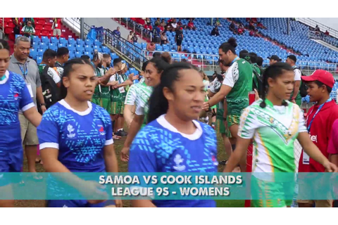 Pacific Games 2019 Cook Islands vs Samoa Womens League 9 ...