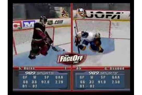 NHL Face Off 2003 Playstation 2 - Gameplay Video part 1 of ...
