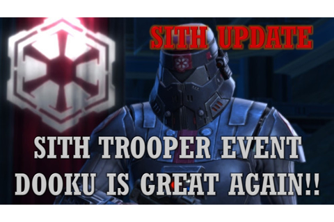 Sith Trooper Event! Game Update, Sith Rise to Power! SWGoH ...
