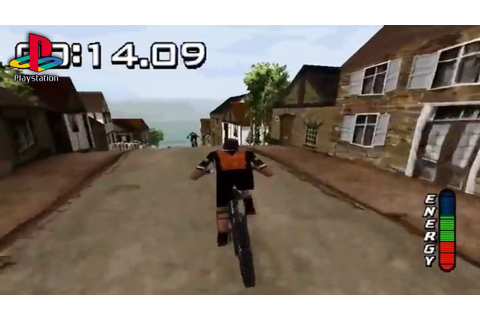 No Fear Downhill Mountain Bike Racing (PS1 Gameplay) - YouTube