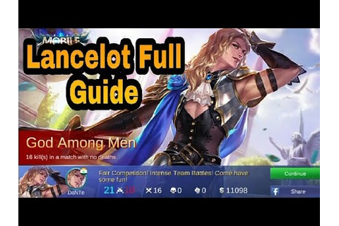 Insane Lancelot Game play | Lancelot Guide | Lancelot ...