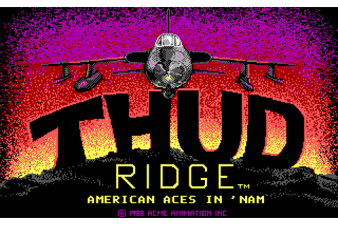 Thud Ridge: American Aces in 'Nam (1988) by Acme Animation ...