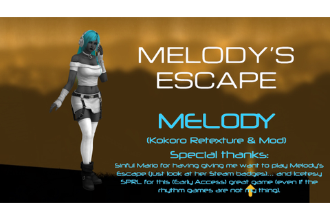 Melody's Escape - Melody (Kokoro Retextured Mod) by ...