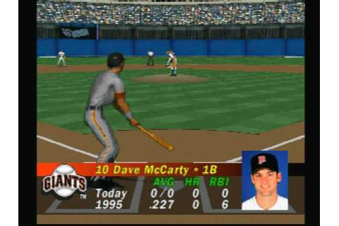 "(PS1 1996) ""MLB Pennant Race"" Full Game Giants @ Braves ..."