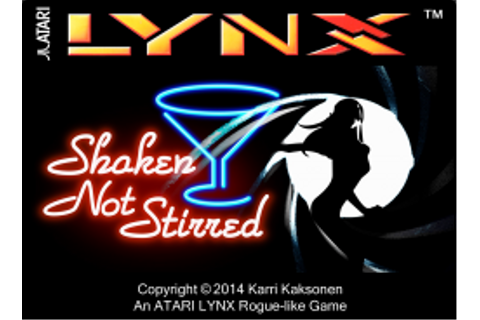 Shaken, not stirred - Atari Lynx | Atari Gamer