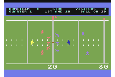 RealSports Football Screenshots for Atari 8-bit - MobyGames