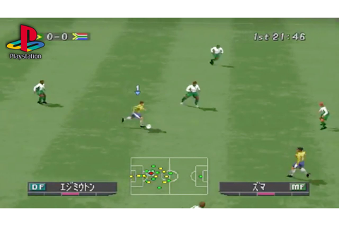 World Soccer Winning Eleven 2002 (PS1 Gameplay) - YouTube