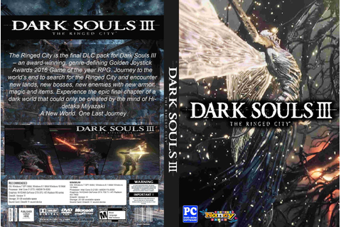 Tudo Capas 04: Dark Souls III The Ringed City - Capa Game PC