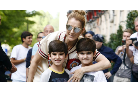 Celine Dion and her 6-year-old twin sons pose for adorable ...