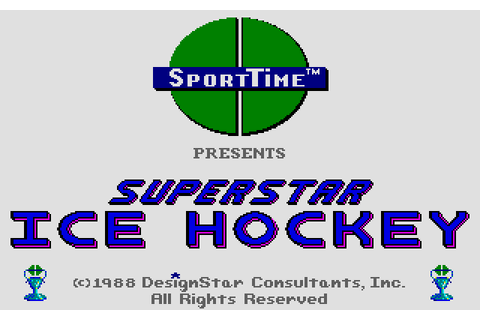 Superstar Ice Hockey (1988) by DesignStar Consultants ...