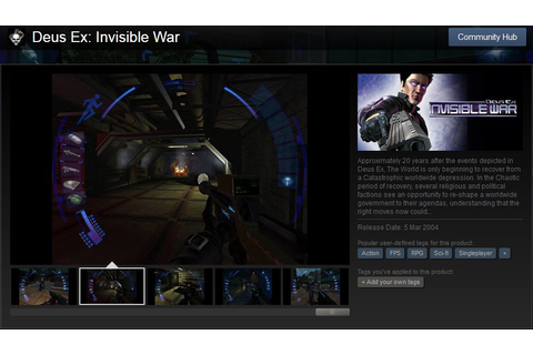 Deus ex invisible war pc game : voitiha