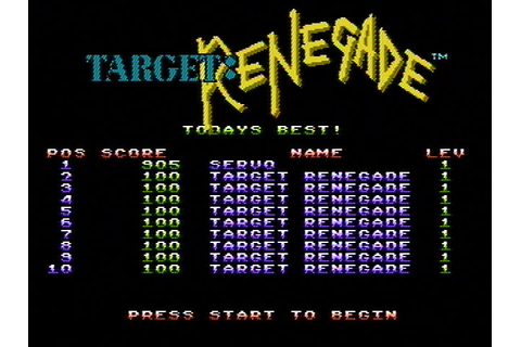 Download Target: Renegade (Amstrad CPC) - My Abandonware