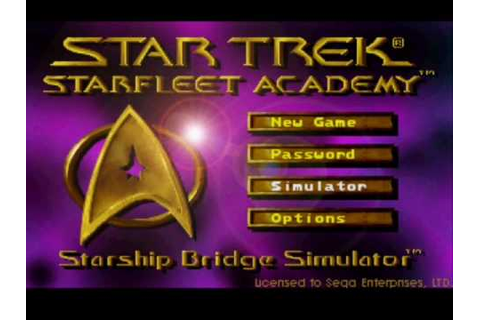Sega 32X - Star Trek Starfleet Academy Starship Bridge ...
