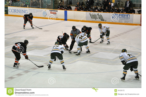 Face Off In Ice Hockey Game Editorial Photography - Image ...